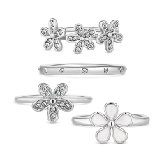 Daisy Stacking Ring Set