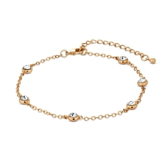 Dew Drop Anklet in Gold Plating