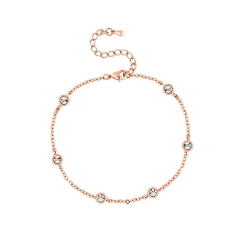 Dewdrop Bracelet in Rose Gold Plate