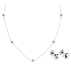 Dew Drop Necklace with Solo Studs