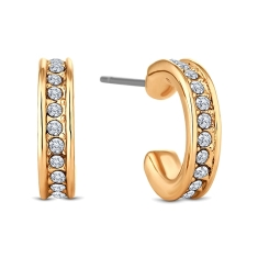 Domino Hoop Earrings in Gold Plate