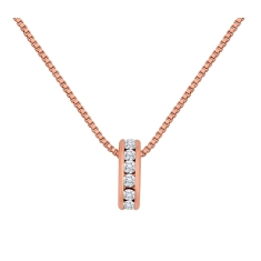 Domino Pendant in Rose Gold Plate
