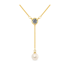 Drop Pearl Pendant in gold plating
