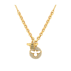 Multi Charm Bee Pendant in Gold