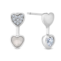 Duo Heart Earrings