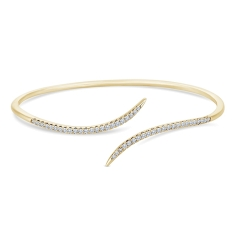 Entwine Bangle in Gold Plating