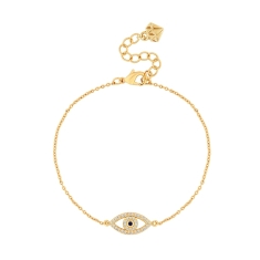Eye Bracelet in Gold Plating
