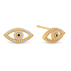 Eye Earrings in Gold Plating