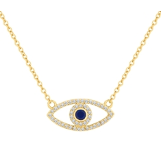 Eye Pendant in Yellow Gold Plating