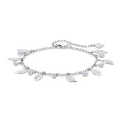 Feather Anklet with Crystals