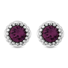 February Gemstone Stud Earrings
