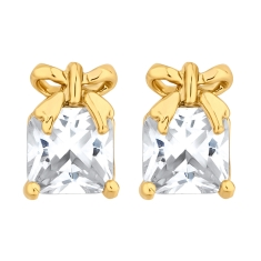 Gift Stud Earrings in Gold Plate