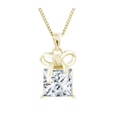 Gold Plated Gift Box Pendant