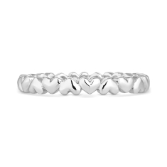 Heart Chain Stacking Ring