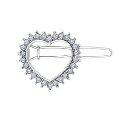 Heart Hair Clip with Crystals