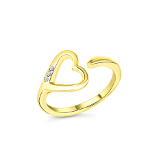 Heart Ring in Gold plating size 6