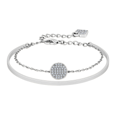 Honey Comb Bangle in Rhodium Plating