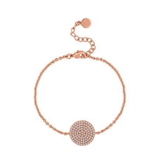 Honeycomb Bracelet in Rose Gold