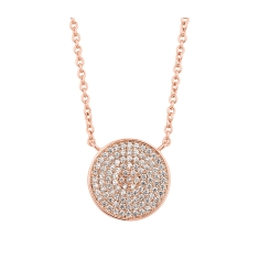 Honeycomb Pendant in 14K Rose Gold Plate