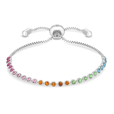 Indo Bracelet with Multi Colour Crystals