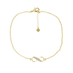 Gold Plated Infinity Anklet