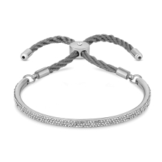 Java Bracelet in White Gold with Silver