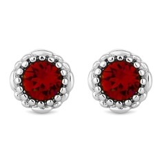 July Gemstone Stud Earrings