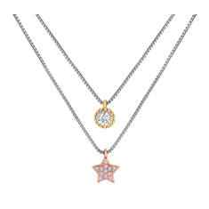 Layered Star Necklace in Mixed Metal