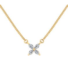 Lily Necklace in Gold Plating