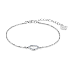 Lips Bracelet in Rhodium Plating