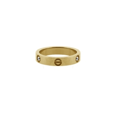 Love Ring 14K Yellow Gold Plate