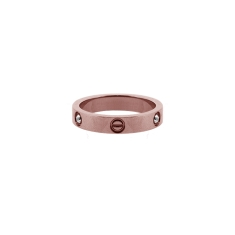 Love Ring 14K Rose Gold Plate