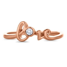 Love Word Ring in Rose