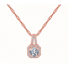 Majestic Pendant in Rose Gold Plating