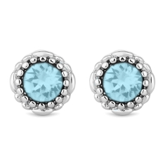 March Gemstone Stud Earrings