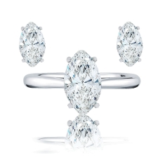 Marquise Earrings and Ring