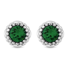 May Gemstone Stud Earrings