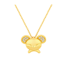 Mouse Pendant for CNY 2020 in Gold Plating