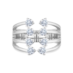 Open Ring with Crystals