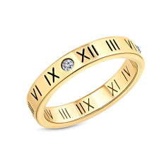 Oracle Ring in yellow gold Plating size 6