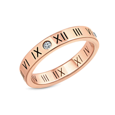 Oracle Ring in Rose gold Plating size 6