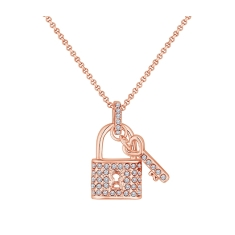 Padlock Pendant In Rose Gold Plating