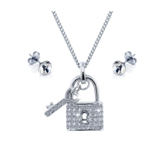 Padlock Pendant and Solo Studs