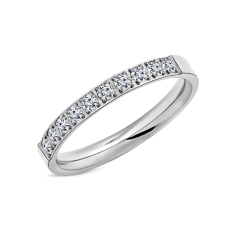 Pavé Ring in rhodium plating size 6