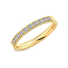 Pavé Ring in yellow gold plating size 6