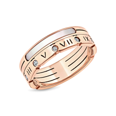 Pearl oracle ring in rose gold plating size 6