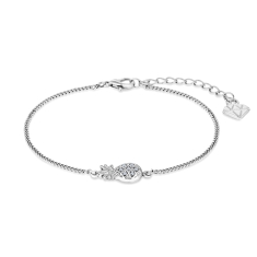 Pineapple Bracelet in Rhodium Plating