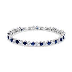Purity Bracelet with Blue Crystals and Extra Link