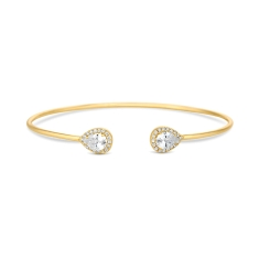 Rapture Bangle in 14K Gold Plate