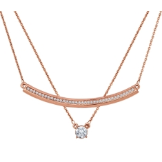 Rose Bar Layered Necklace